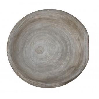 Schale, Holz, grau