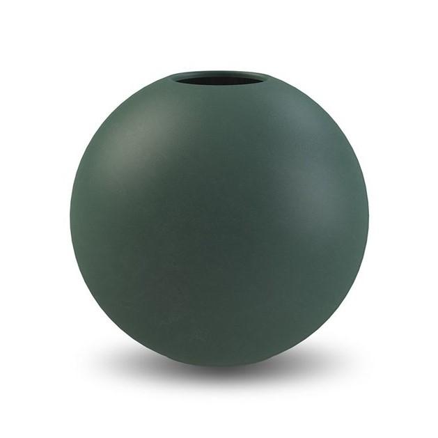 Ball Vase, 20 cm, dunkelgrün