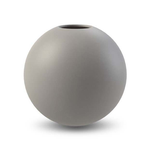 Ball Vase, 20 cm, grau