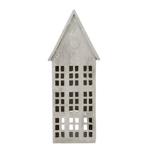 Serafina Dekorationhaus grau 33 cm.