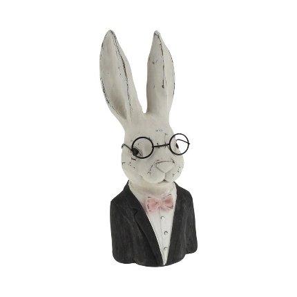 Hasenbüste mit Brille