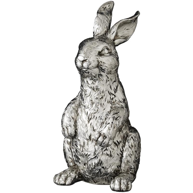 Hase, silber, 23 cm