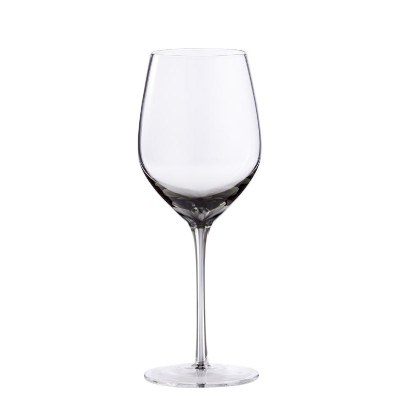 Rotweinglas, rauchfarbig