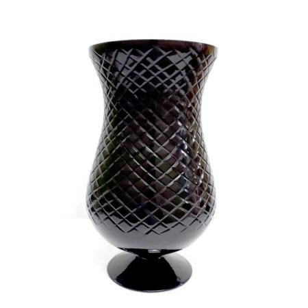 Vase, Pokal, Diamondcut, schwarz