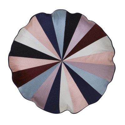 Rundes Kissen, farbig