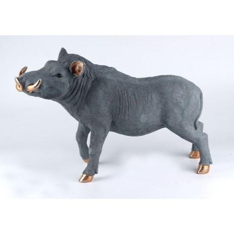 Warzenschwein, grau, 54 cm