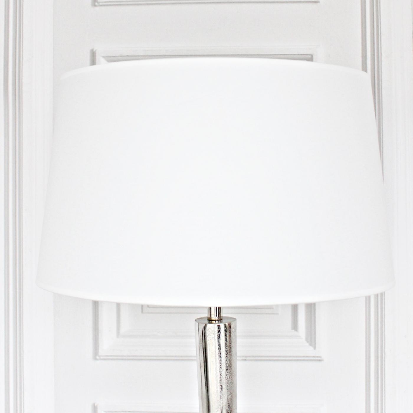 Lampenschirm L, rund, weiß