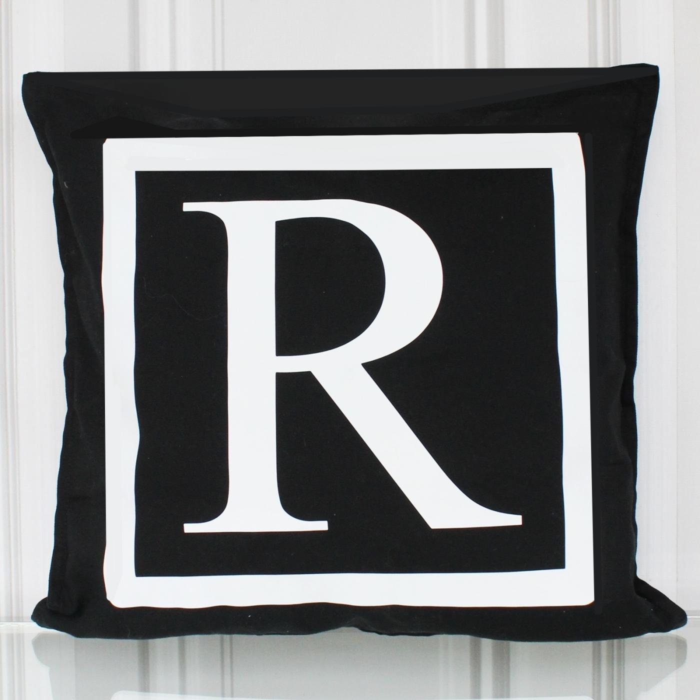 Kissenbezug, Monogramm R