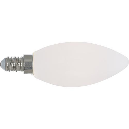 LED- Filament-Kerzenlampe, E14, 4,5W, opal, dimmbar, idealer Ersatz für matte Kerzenglühlampe