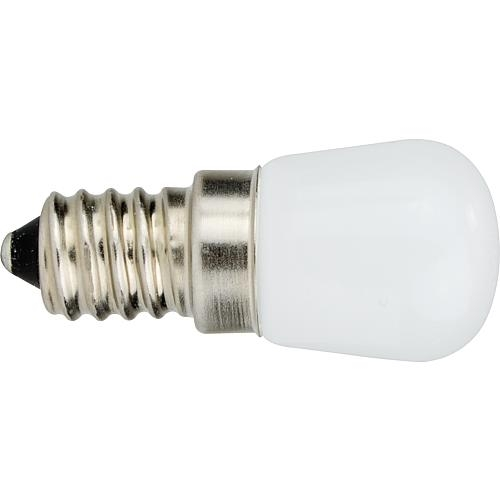LED- Lampe, E14, 1,6W, opal, 1,6W, idealer Ersatz für Kühlschrankglühlampen