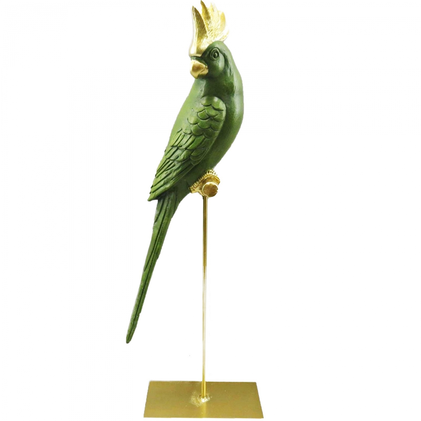 Papagei, grün-gold, L