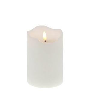 LED-Kerze 15cm, Echtwachs, weiß