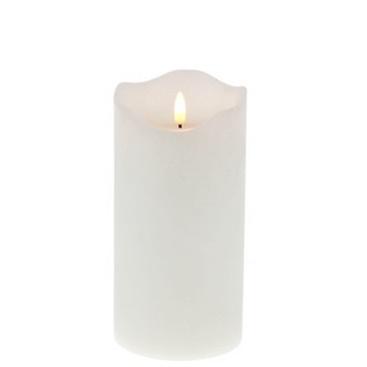 LED-Kerze 20 cm, Echtwachs, weiß