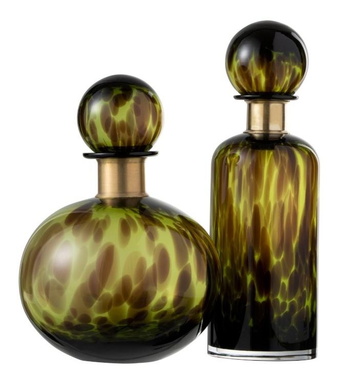 Flasche, Leomuster, grün