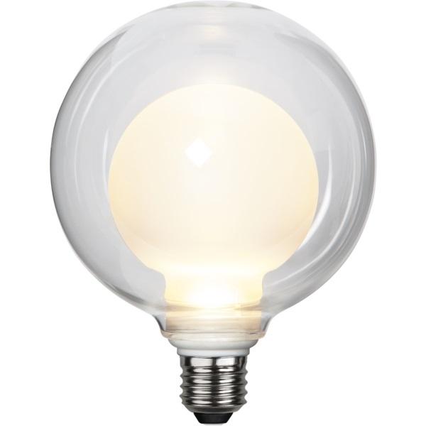 LED-Leuchtmittel weiß mit Glaskuppel, 12,5 cm