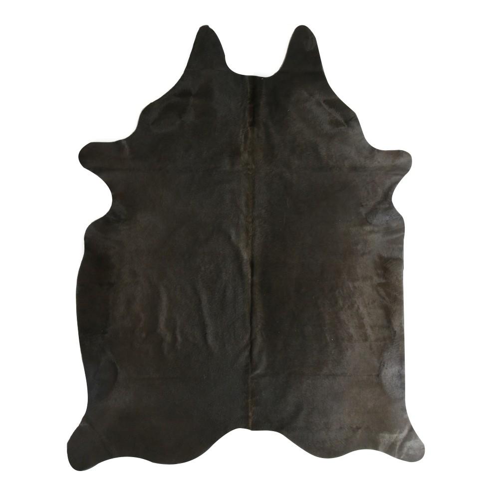 Kuhfell 250 x 150 cm, anthrazit-schwarz