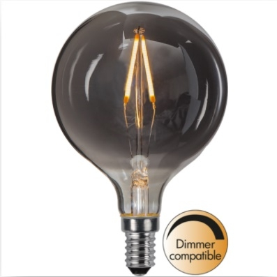 LED-Leuchtmittel, Smoke, E14, 80 mm