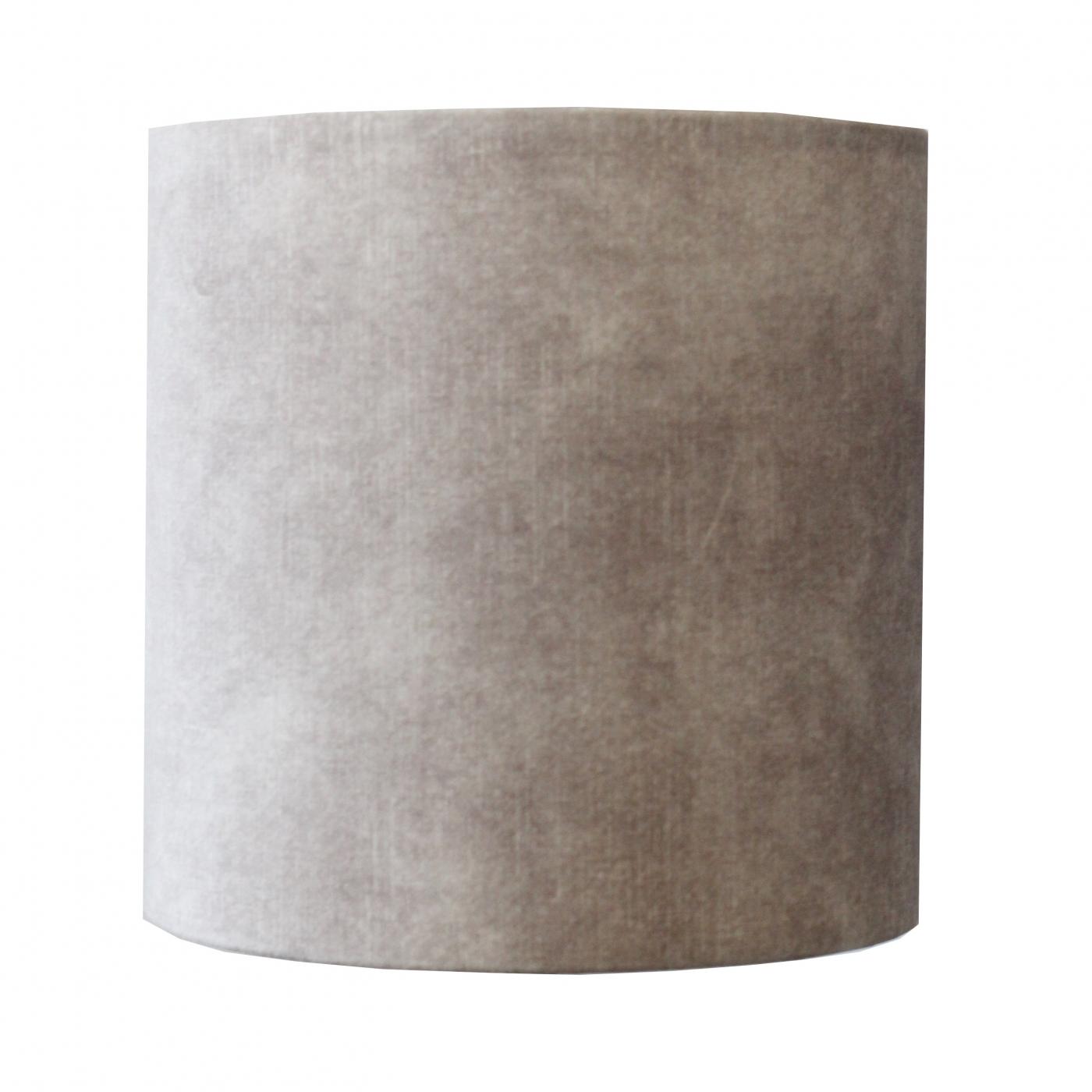 Lampenschirm, Samt, grau-meliert
