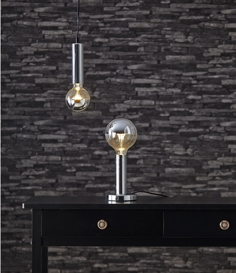 Lampenfuß für LED, silber, metall,L