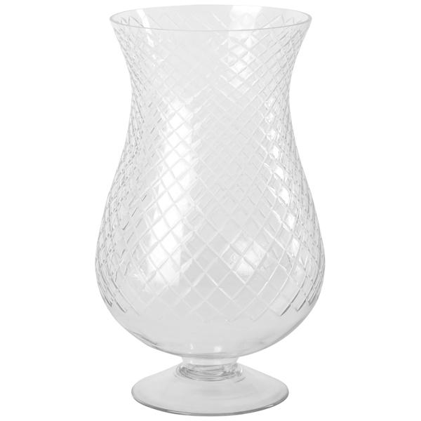 Elegante Vase mit Schliff, L , 37,5 cm