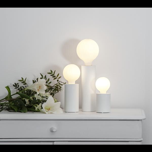 Lampenfuß für Leuchtmittel,weiß, L ,