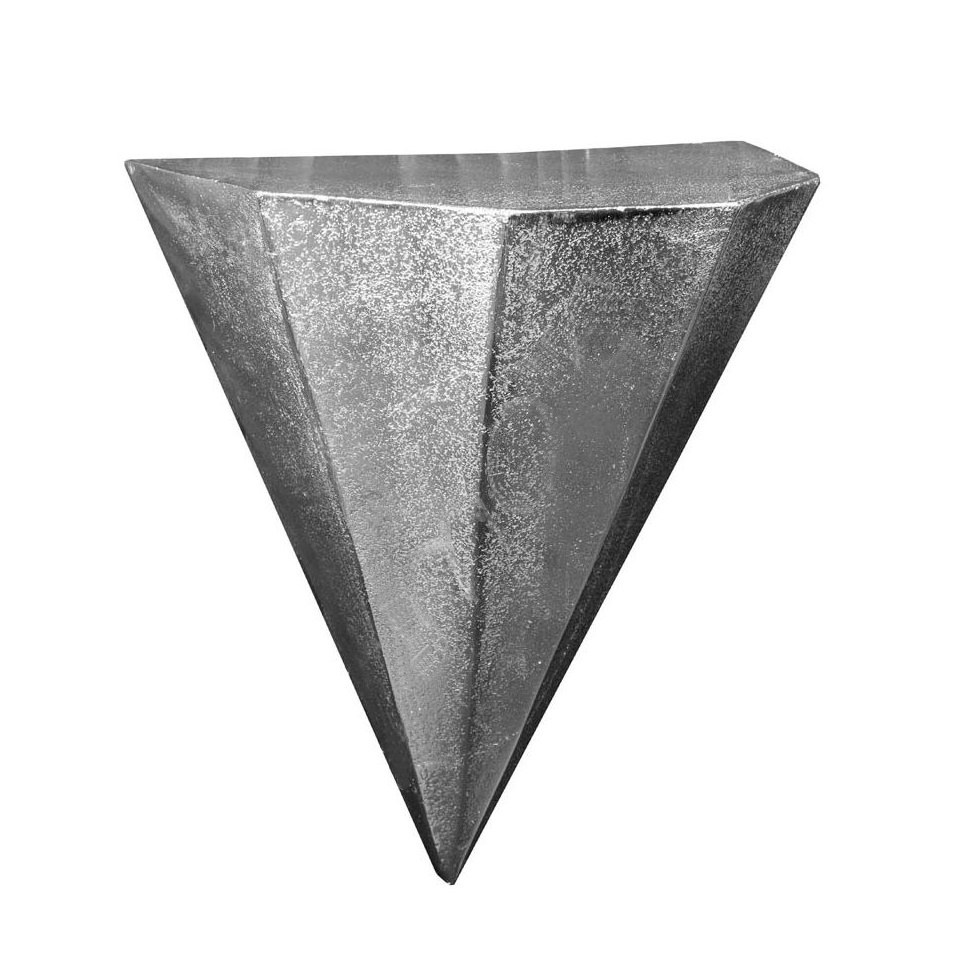 Wandregal, Pyramide, Aluguss, silber