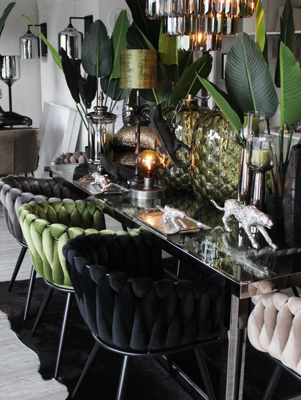 Stuhl, Welle, olivgrün
