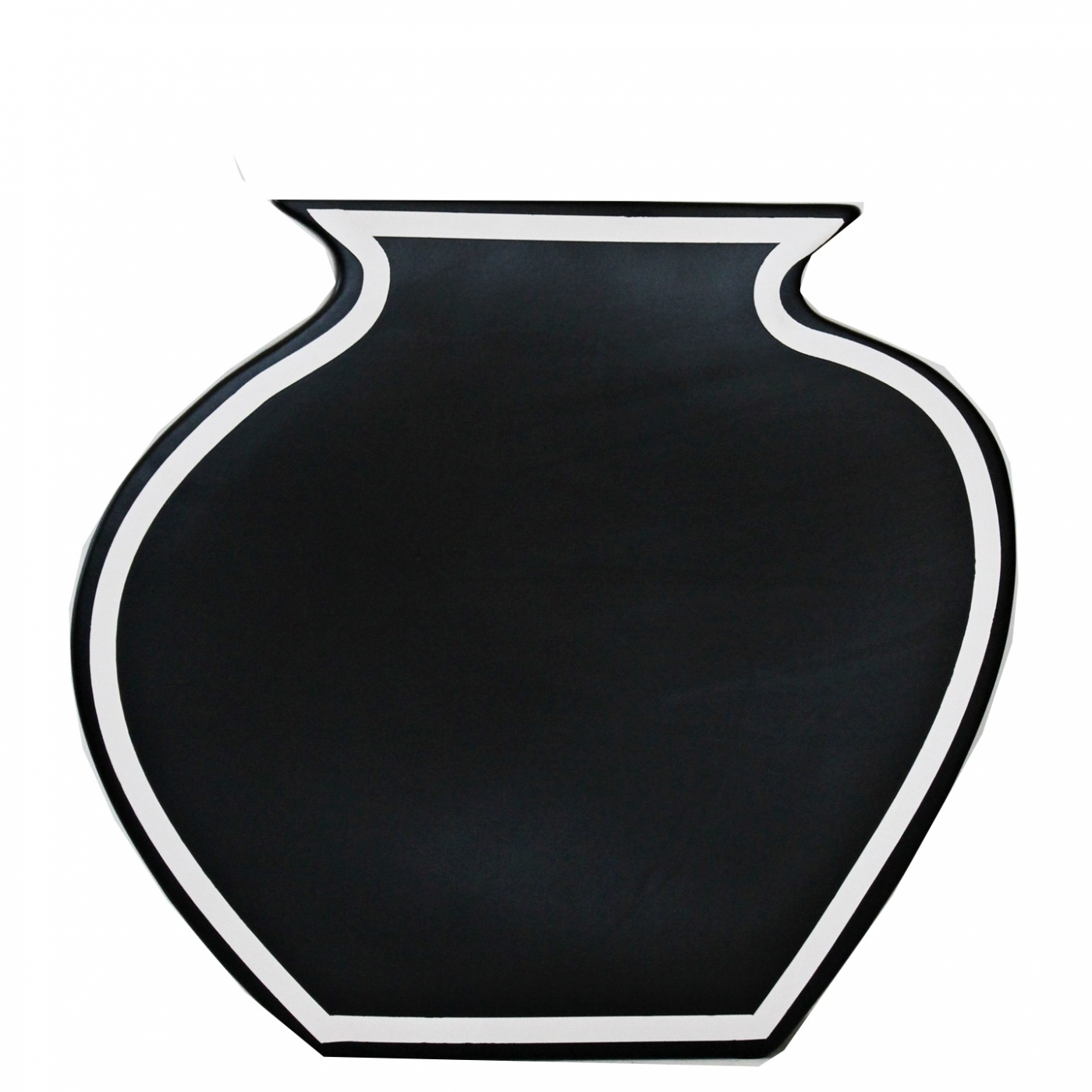Vase mit schwarzem Rand, Jug, L