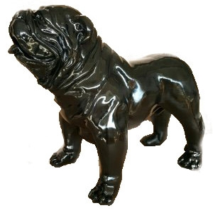 XXL Deko-Bulldogge, schwarz