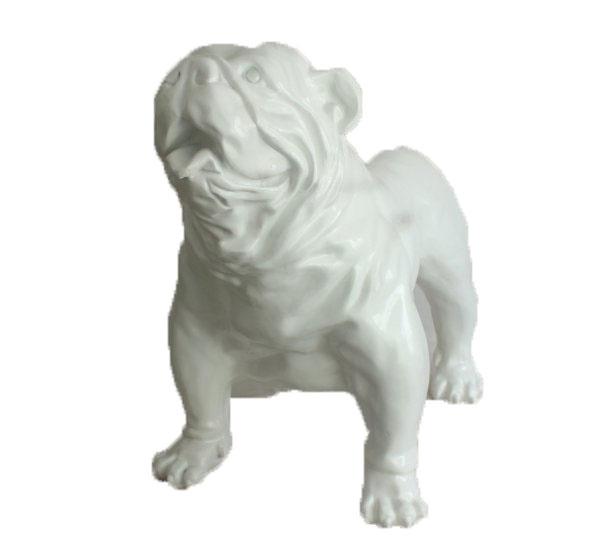 XXL Deko-Bulldogge, weiß