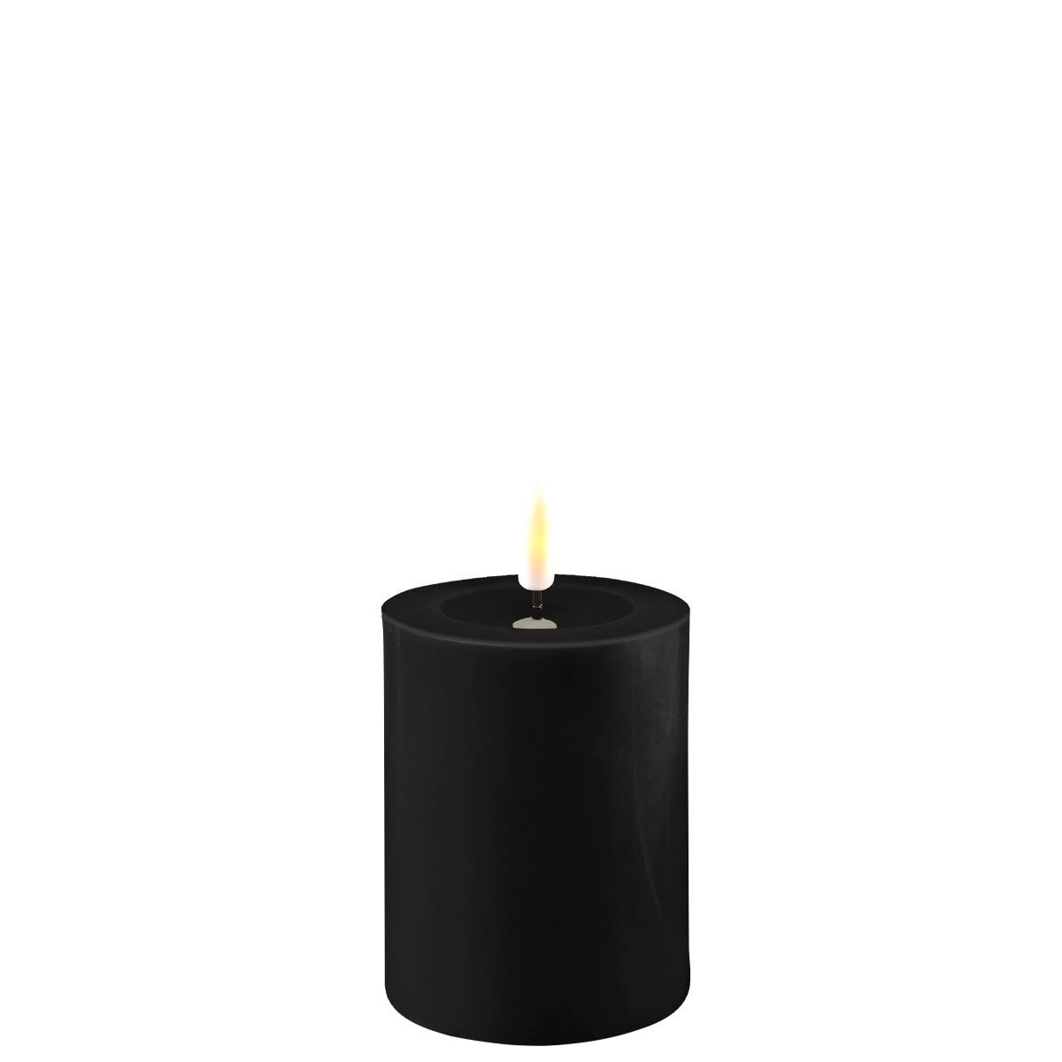 LED-Kerze, 10 cm, schwarz