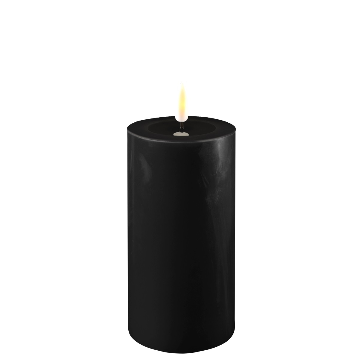 LED-Kerze, 15 cm, schwarz