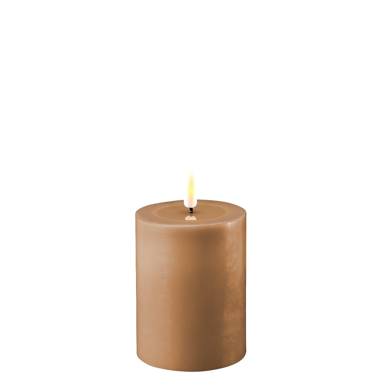 LED-Kerze, 10 cm, karamellbraun