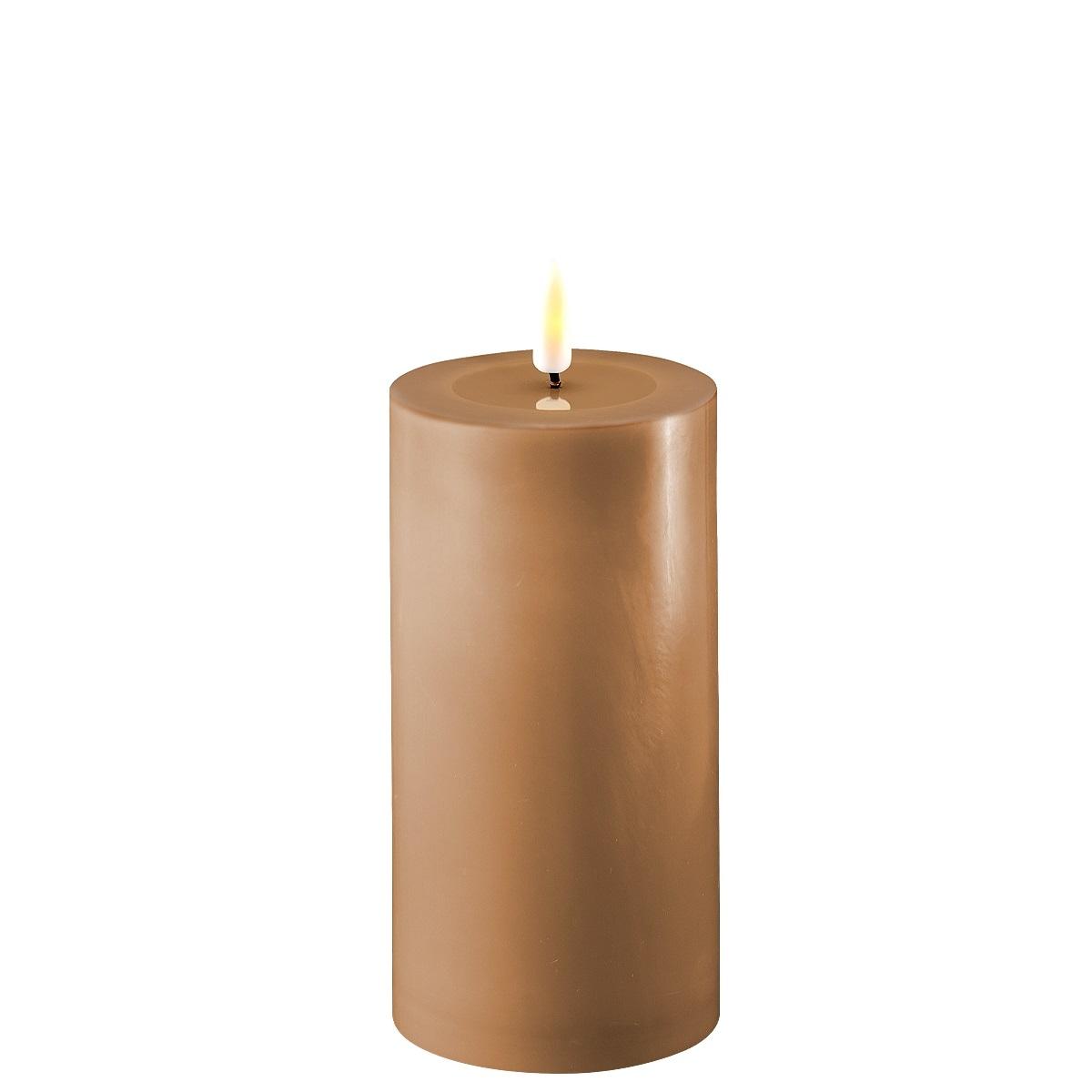 LED-Kerze, 15 cm, karamellbraun