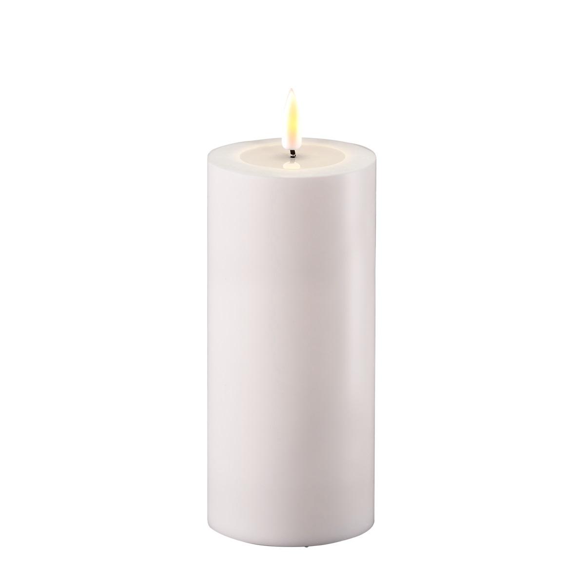 LED-Kerze, OUTDOOR, 15 cm , weiß