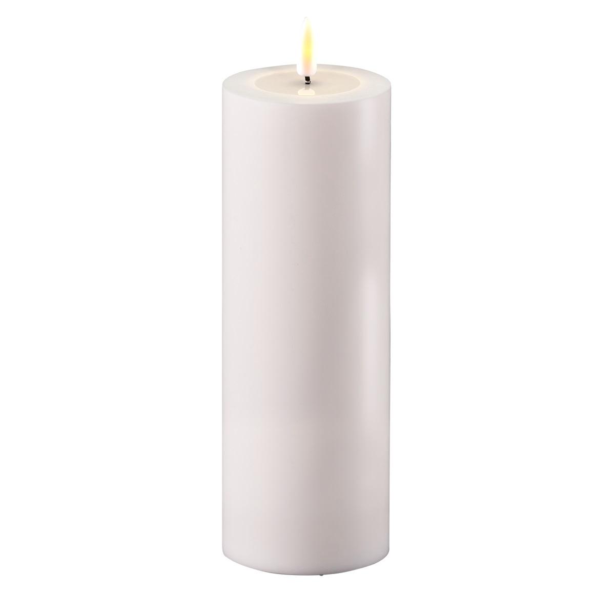 LED-Kerze, OUTDOOR, 20 cm , weiß
