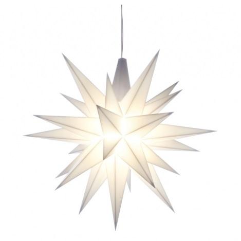 Herrnhuter Stern, weiß, ca. 13 cm, LED