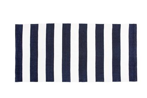 Teppich, blau-weiß, Lene Bjerre