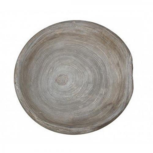 Schale Holz grau, 50 cm