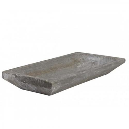 Tablett Holz grau, 55 cm