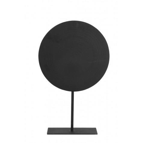 Ornament auf Fuß, schwarz L