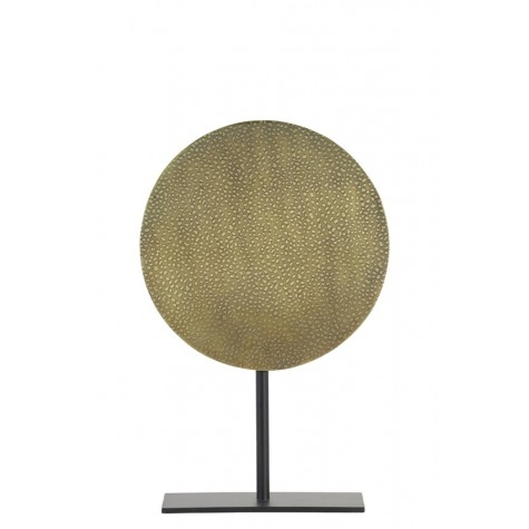 Ornament auf Fuß, Tupfen, gold-bronze M