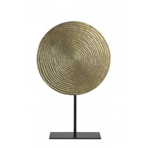 Ornament auf Fuß, gold-bronze L, Spirale
