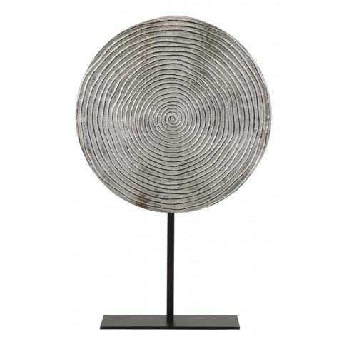 Ornament auf Fuß, Spirale, silber, D: 25 H: 38 cm, S