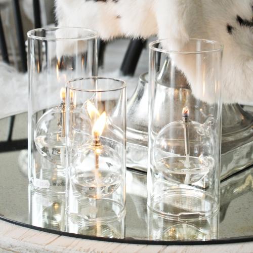 Öllampe aus Glas, klein