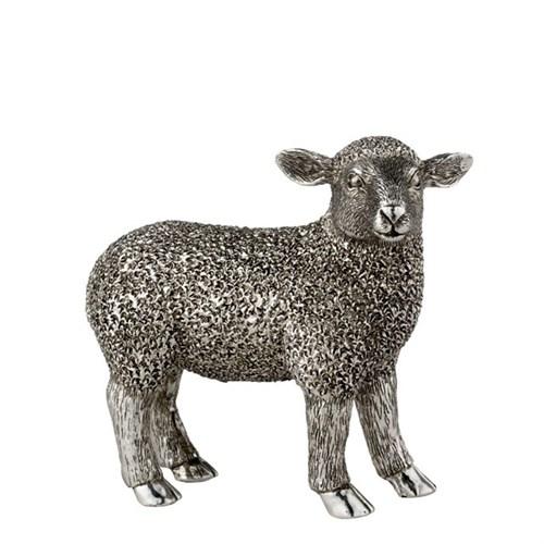 Lamm, stehend, antiksilber