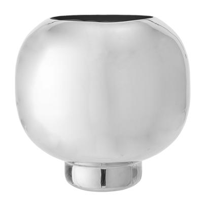 Vase, Ball, Hochglanz, silber
