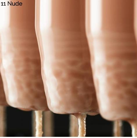 Spitzkerze, 32 cm, nude, lack
