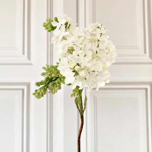 Kunstblume, grün-weiß