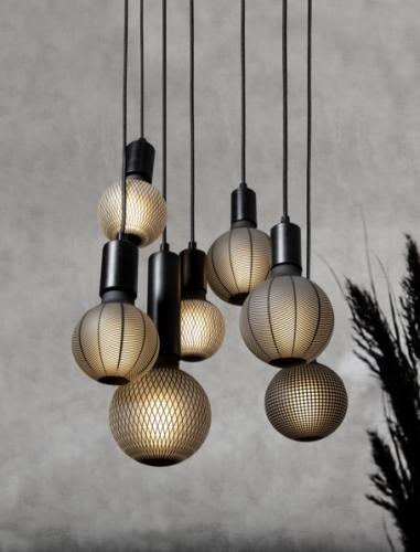 LED-Leuchtmittel, Graphic, Netz, 9,5 cm